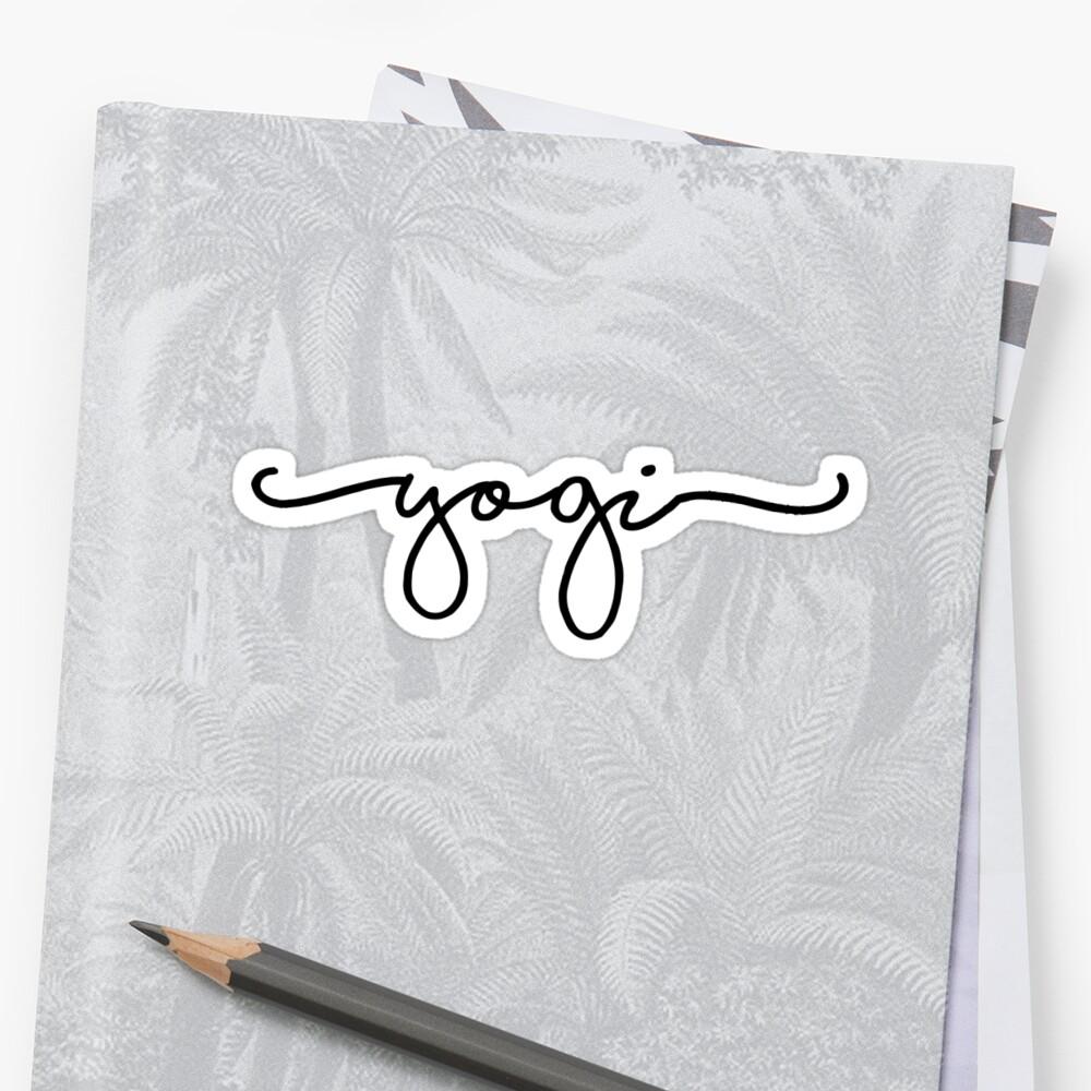 yogi sticker  Sticker