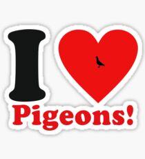 I love pigeons!  Sticker