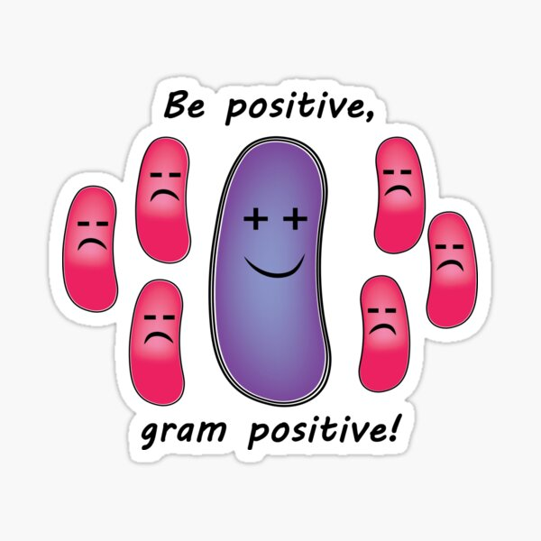 Funny Biology Be Positive Like Bacteria Sticker