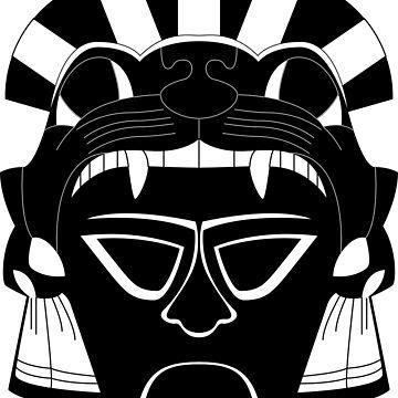 Mayan Jaguar God mask by Smaragdas