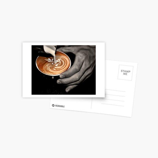 Latte Art. Postcard