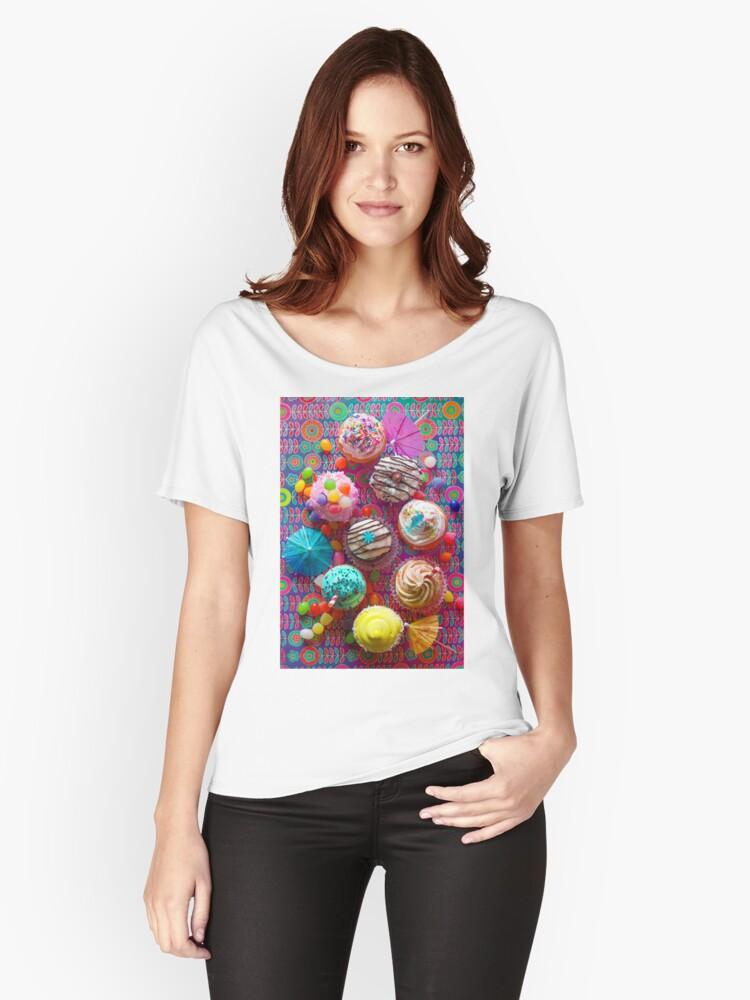 Cupcake du Jour Women's Relaxed Fit T-Shirt Front