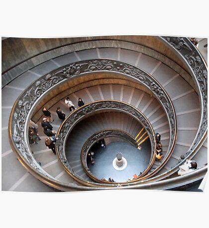 spiral ramp inside the vatican Poster