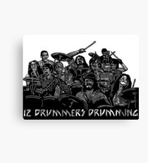 12 Drummers Drumming Canvas Print