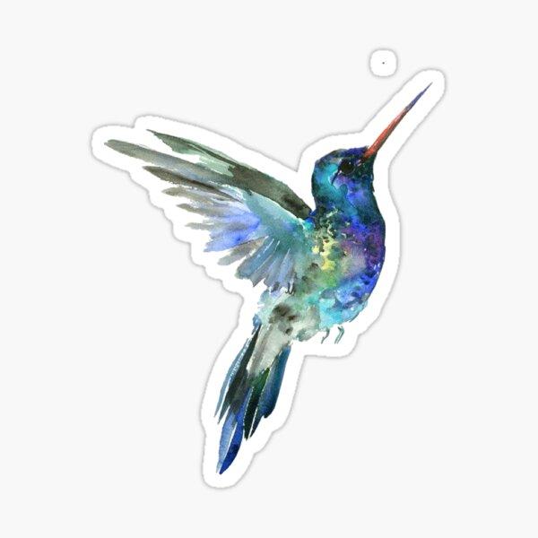 Aquarelle Colibri Sticker