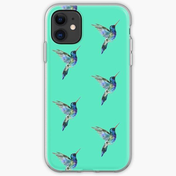 Watercolor hummingbird iPhone Soft Case