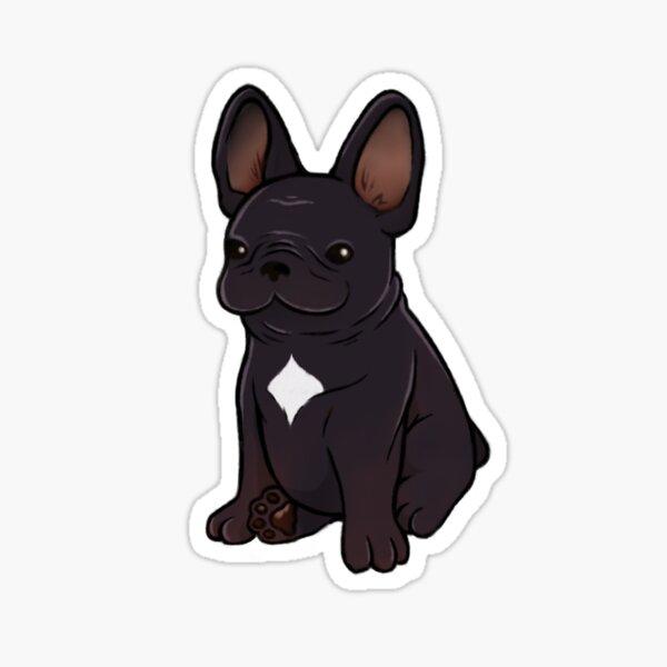 Frenchie - Black Sticker