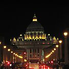 night view of san pietro by marianne troia