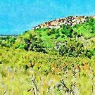 Landscape with the Santa Maria Talao village by Giuseppe Cocco