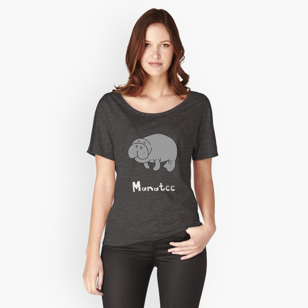 M for Manatee Women's Relaxed Fit T-Shirt Front