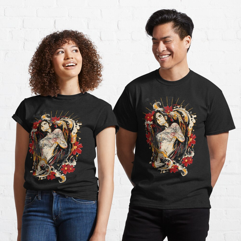 Cinco de Mayo Mexican Tattoo Pin-up Retro Vintage Day of The Dead Classic T-Shirt