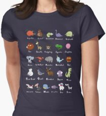 The Animal Alphabet Women's Fitted T-Shirt