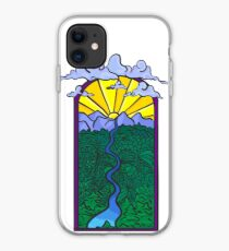 Sunset mountains  iPhone Case