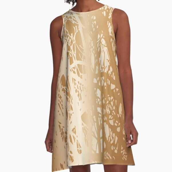 Forests of Gold A-Line Dress