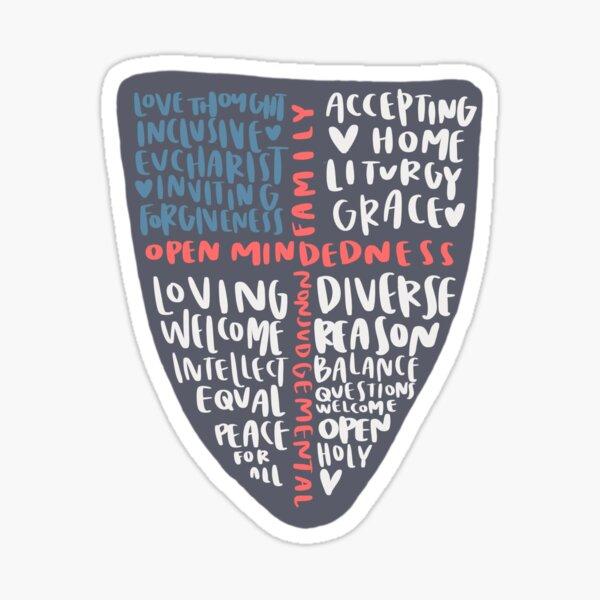 episcopal crest Sticker