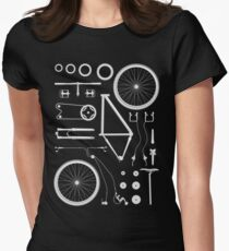 Bike Exploded Women's Fitted T-Shirt