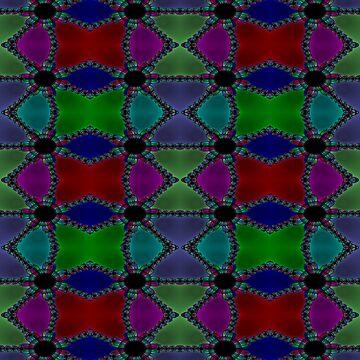 Newton Raphson Fractal Seamless Pattern XI by shane22