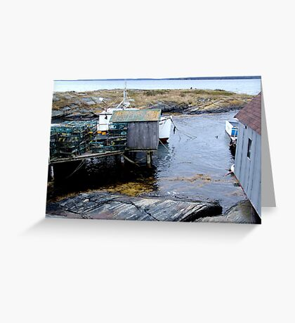 Tiny Harbour at Blue Rocks(1) Greeting Card