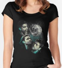 The Mountain Team Free Will Moon - Supernatural Edition Women's Fitted Scoop T-Shirt