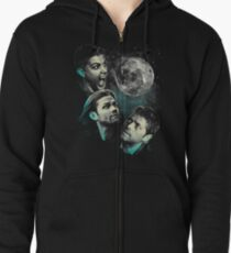 The Mountain Team Free Will Moon - Supernatural Edition Zipped Hoodie
