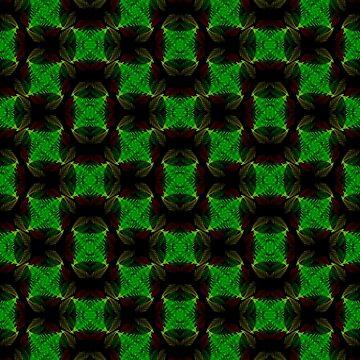 Fractal Fern Seamless Pattern II by shane22