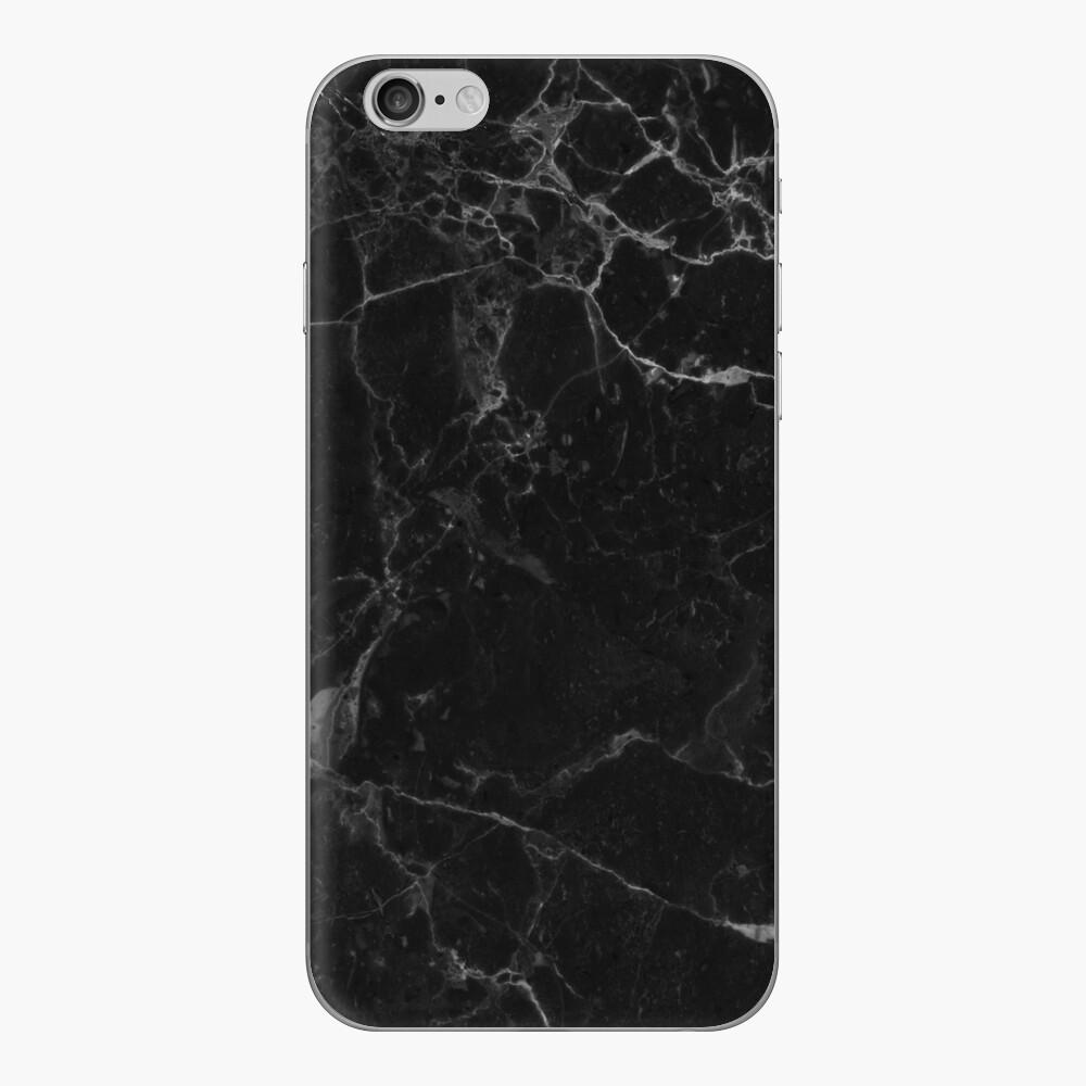 Mármol negro Vinilo para iPhone