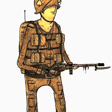 American paratrooper by Benlyksmonsters