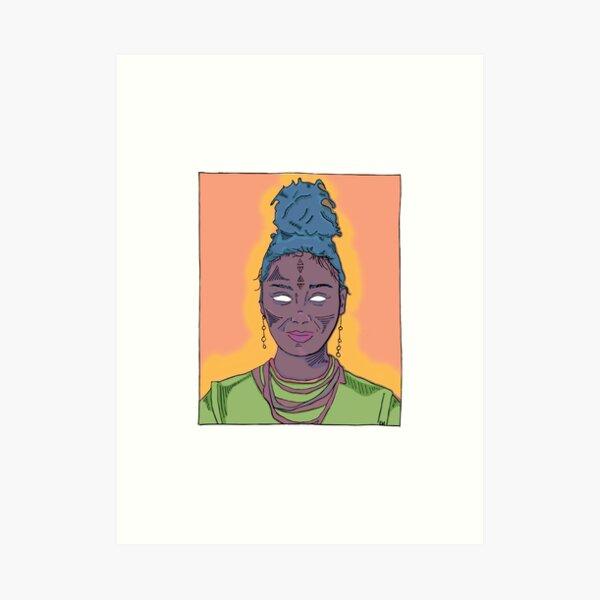 2018 09 05 Saffron Art Print