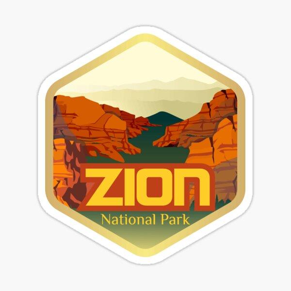 Utah Zion National Park Sticker (Brand New Design) Sticker