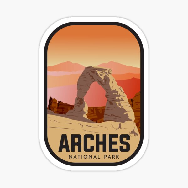 Utah Arches National Park (Brand New Design) Sticker