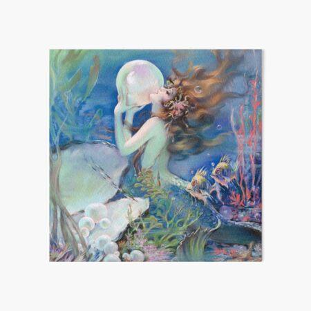 Vintage Mermaid painting, mythological being Art Board Print