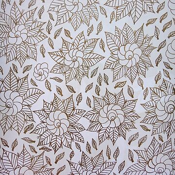 Whimsical Floral and Leaves Print by Zehda