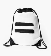 Equality Paint Black Drawstring Bag