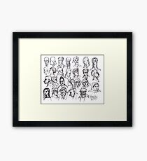 The Faces of San Francisco Framed Print