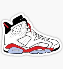 "Air Jordan VI (6) ""White Infrared"" Sticker"