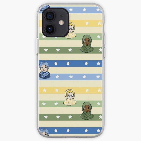 Original Muslim Me Stars & Stripes Hijabi Cartoon iPhone Soft Case