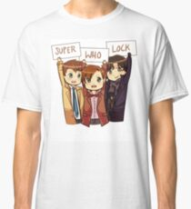 Chibi SuperWhoLock Classic T-Shirt