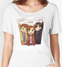 Chibi SuperWhoLock Women's Relaxed Fit T-Shirt