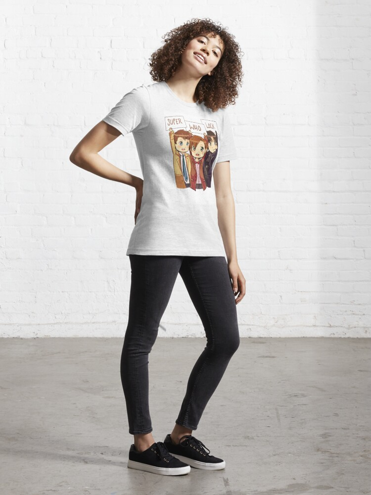Alternate view of Chibi SuperWhoLock Essential T-Shirt