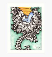 Lámina artística Pies de loto