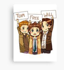 Chibi Team Free Will Canvas Print