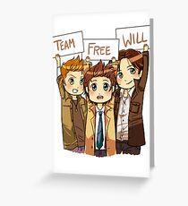 Chibi Team Free Will Greeting Card