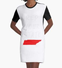 REP YOUR STATE TENNESSEE Graphic T-Shirt Dress