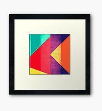 Minimal Primary Color Geometry Framed Print