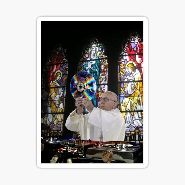 Catholic DJ Earth Pope Francis Turntable EDM Sticker