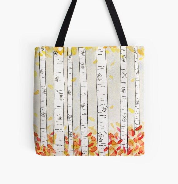 autumn aspen All Over Print Tote Bag
