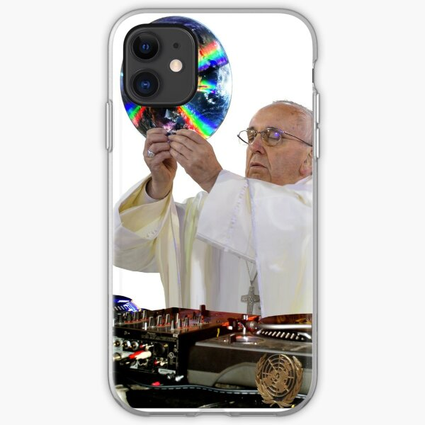 DJ Earth Pope Francis, EDM Holy Father iPhone Soft Case