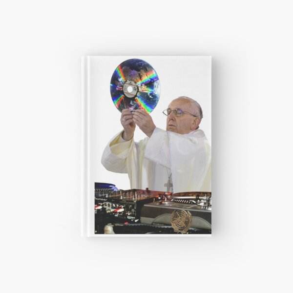 DJ Earth Pope Francis, EDM Holy Father Hardcover Journal
