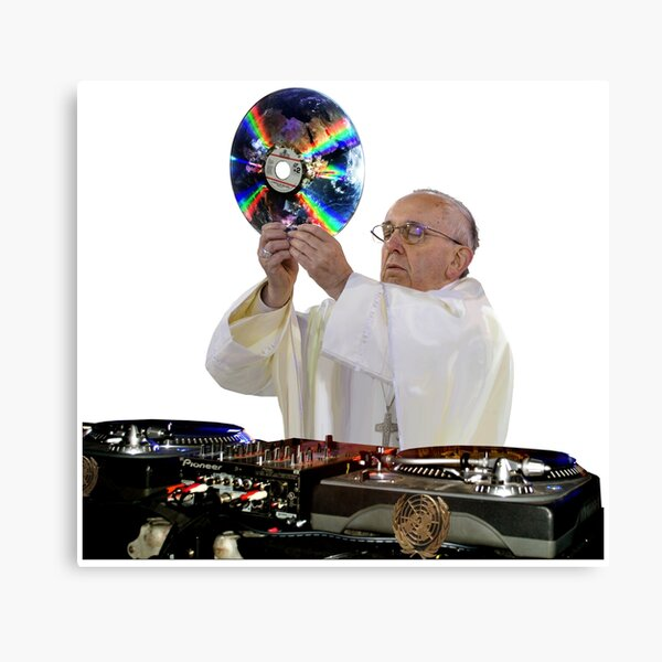 DJ Earth Pope Francis, EDM Holy Father Canvas Print