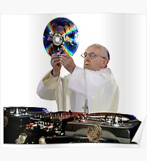 DJ Earth Papst Francis, EDM Heiliger Vater Poster